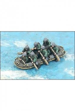 Floßsäcke, Boote aus Sackleinen G594
