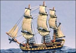 50 Kanonen kleines Linienschiff (HMS Centurion) 244