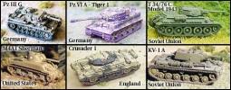 4Set von 6 verschiedenen Panzern WW2 HC1