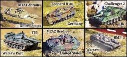 Set von 6 verschiedenen Panzern modern HC2