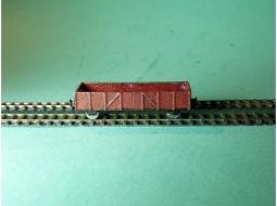 Güterwagenset Gondola / Mittelbordwagen Typ Linz 4x