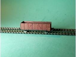 Güterwagenset Gondola / Hochbordwagen 4x
